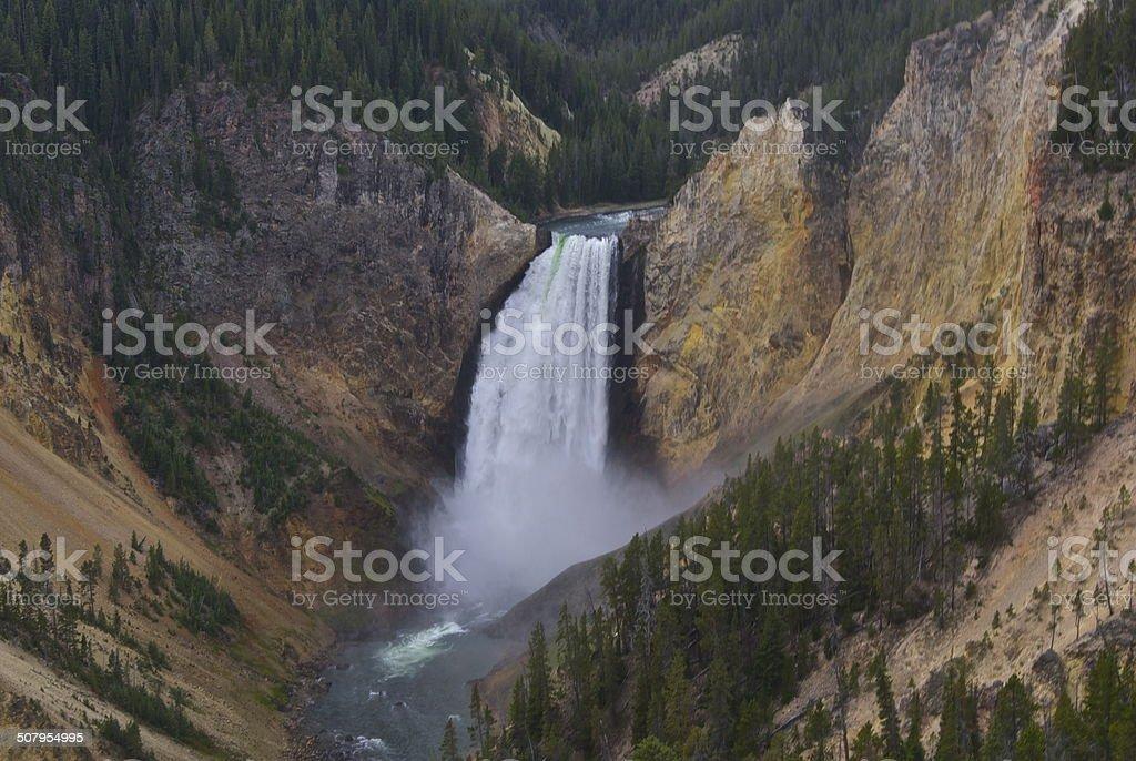 Yellowstone's Lower Falls stock photo
