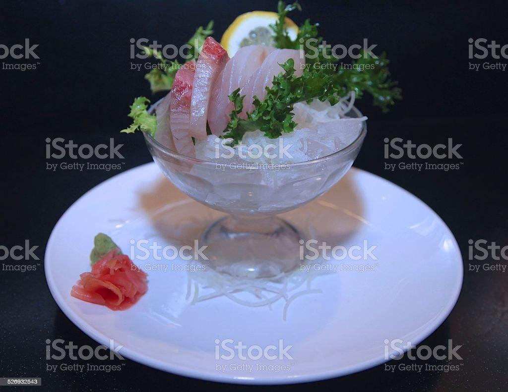 Yellowtail and Amberjack Sashimi stock photo