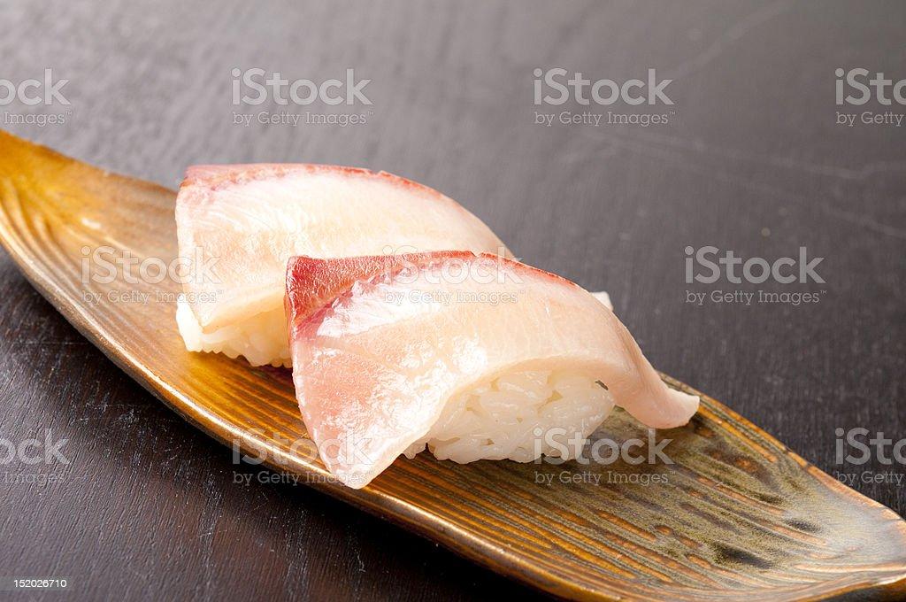Yellowtail Sushi stock photo