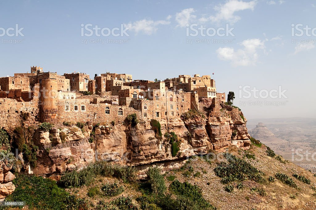 Yemen Building View stock photo