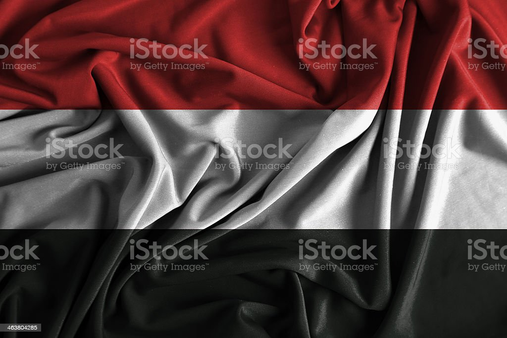 Yemen Flag stock photo