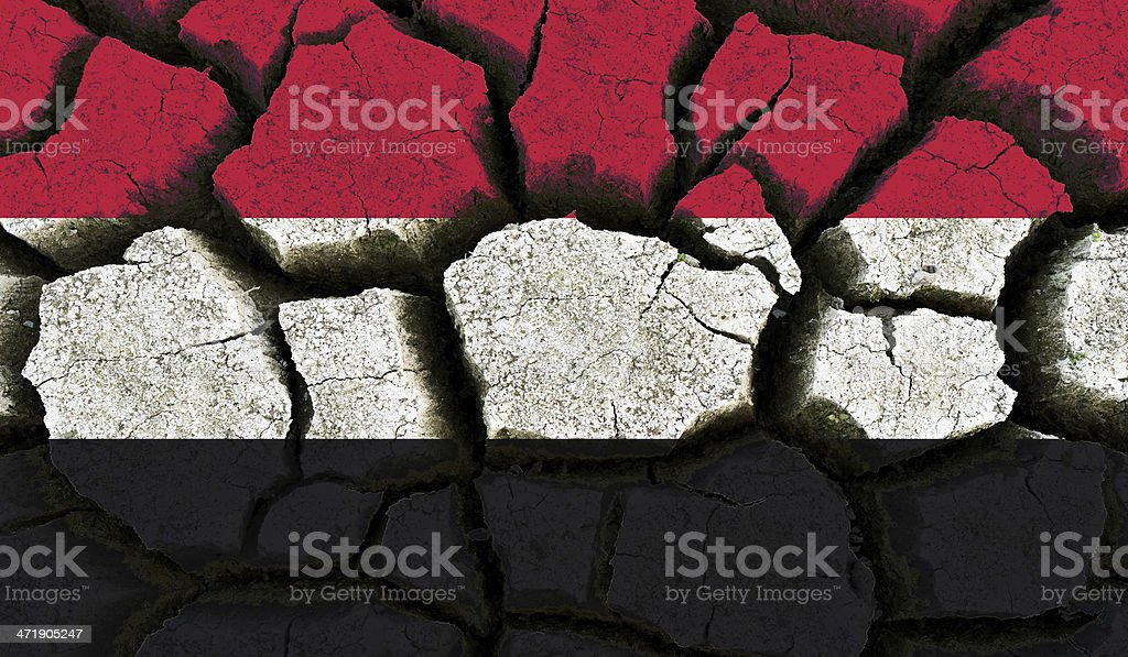 Yemen flag. stock photo