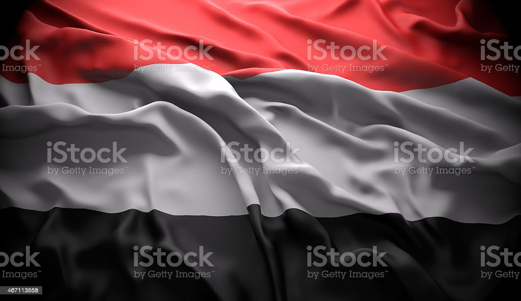 Yemen, Sanaá national official state flag stock photo