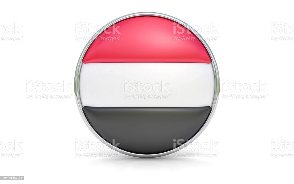 Yemeni flag stock photo