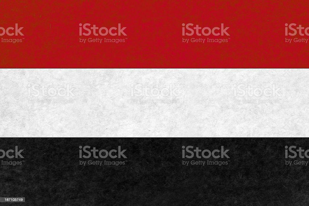 Yemenite flag royalty-free stock photo