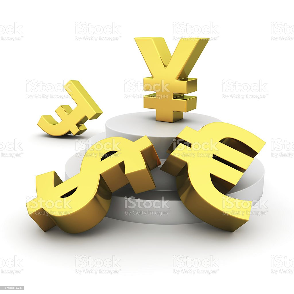 Yen advantage stock photo