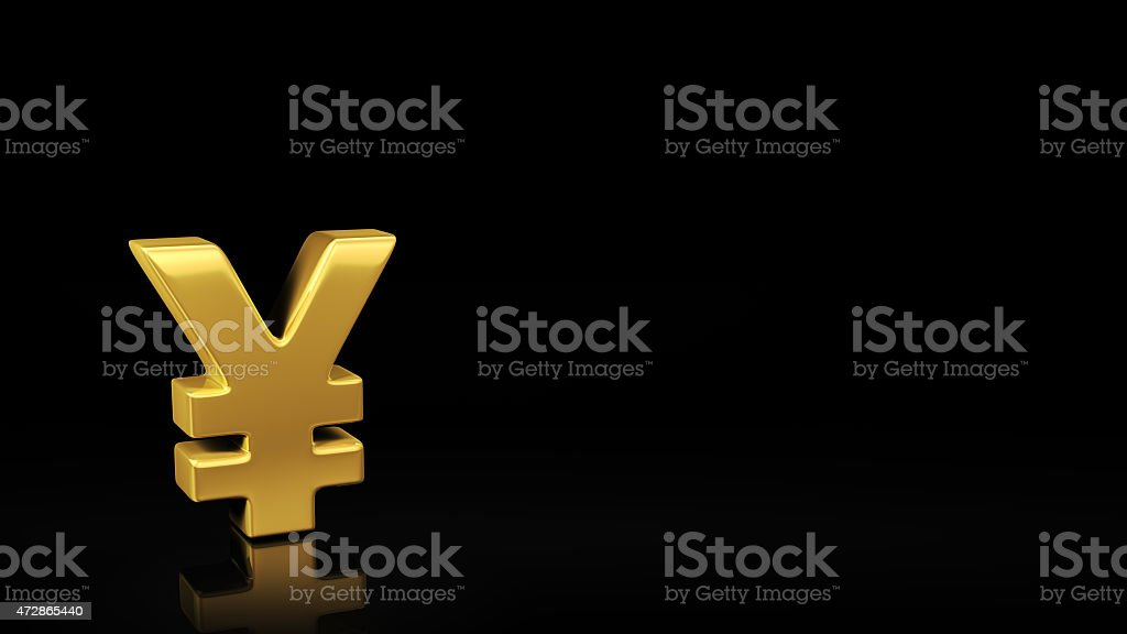 Yen black slide stock photo