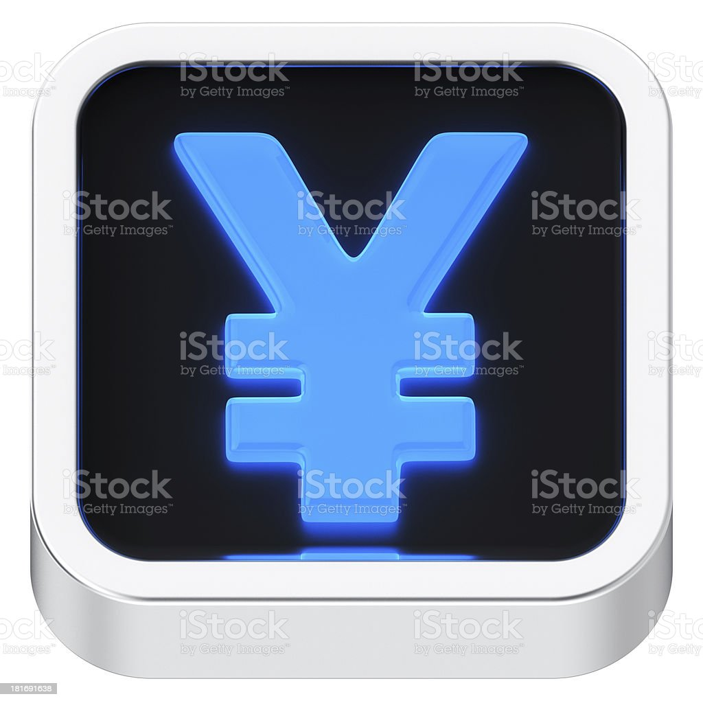 Yen luminous icon stock photo