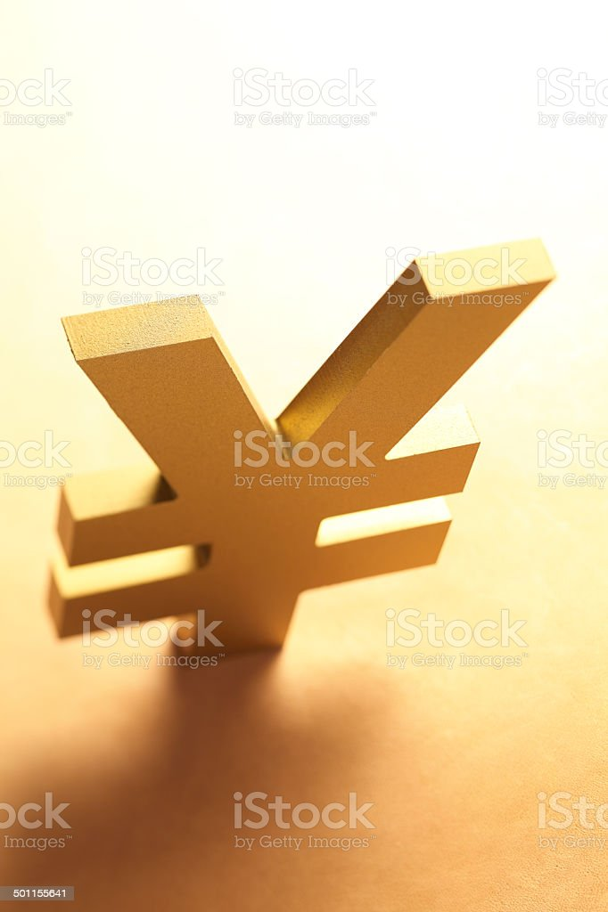 Yen or Yuan Symbol stock photo