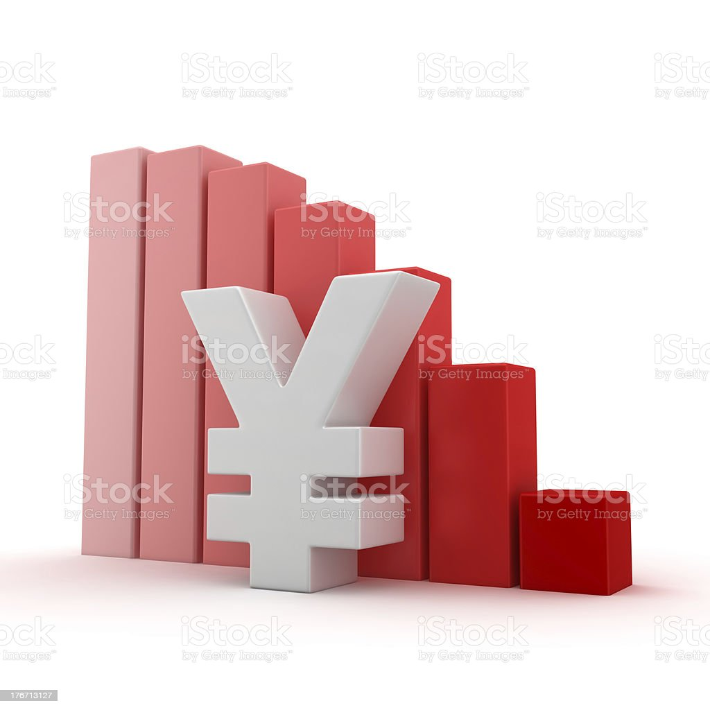 Yen recession stock photo
