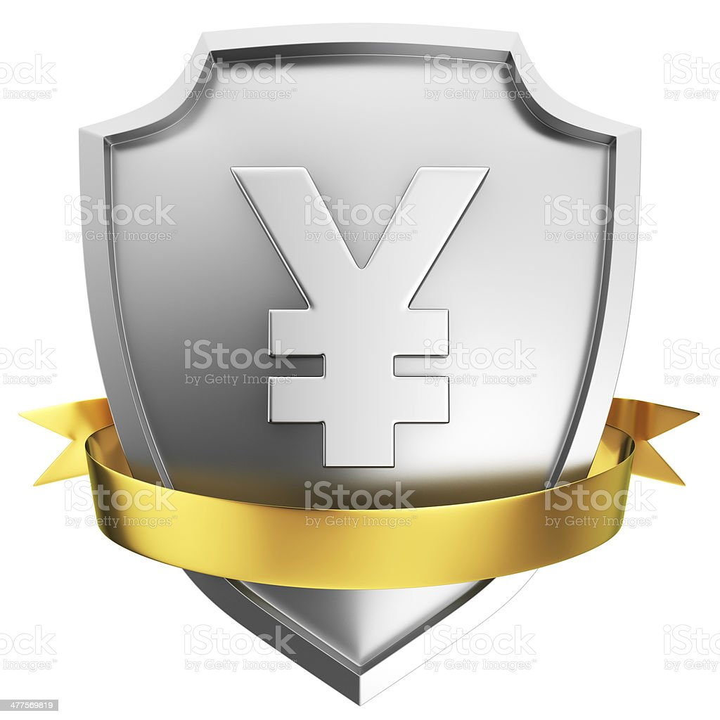 Yen shield stock photo