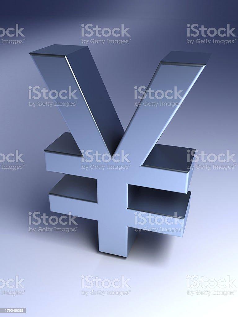 Yen sign royalty-free stock photo
