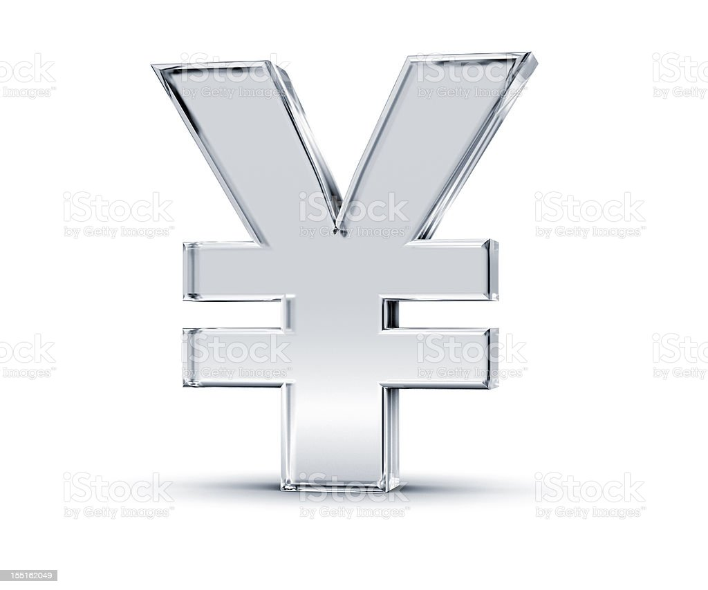 Yen Symbol royalty-free stock photo