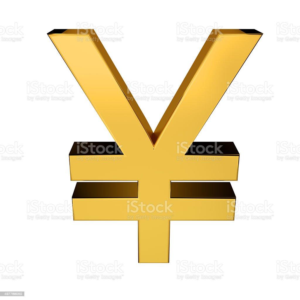 Yen Symbol stock photo