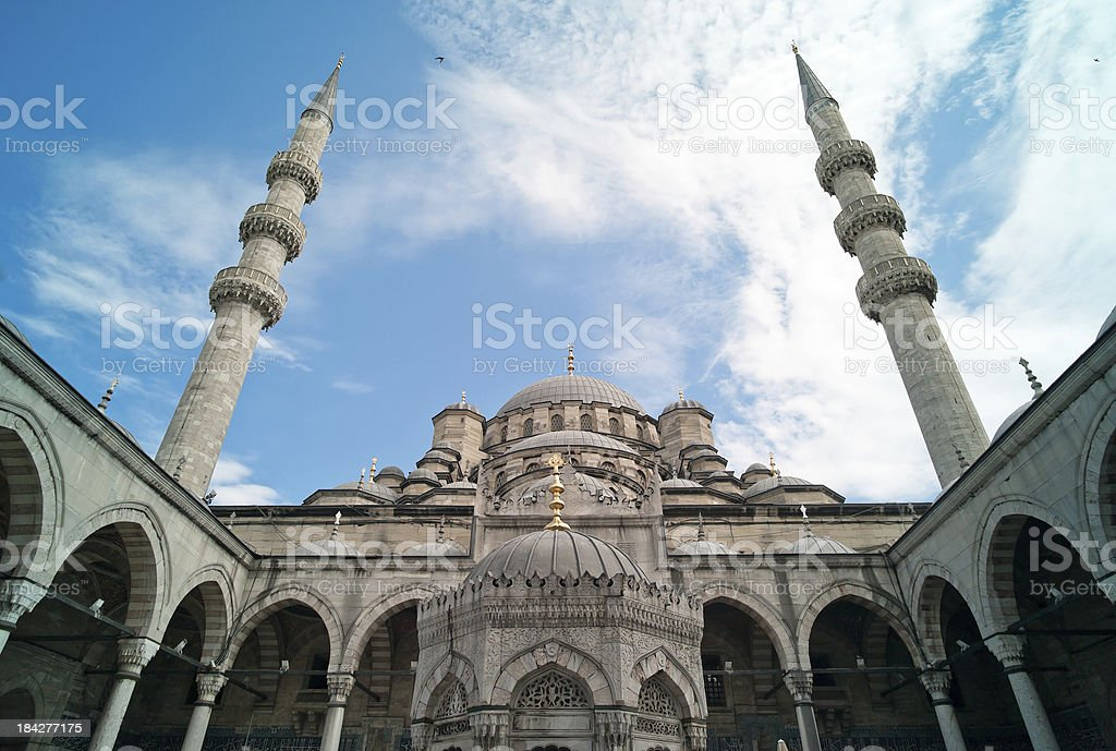 Yeni cami mosque in Istanbul stock photo