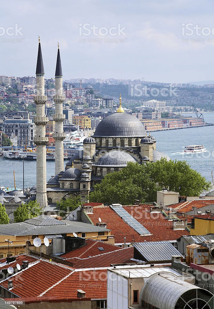 Yeni Moscque in Istanbul royalty-free stock photo