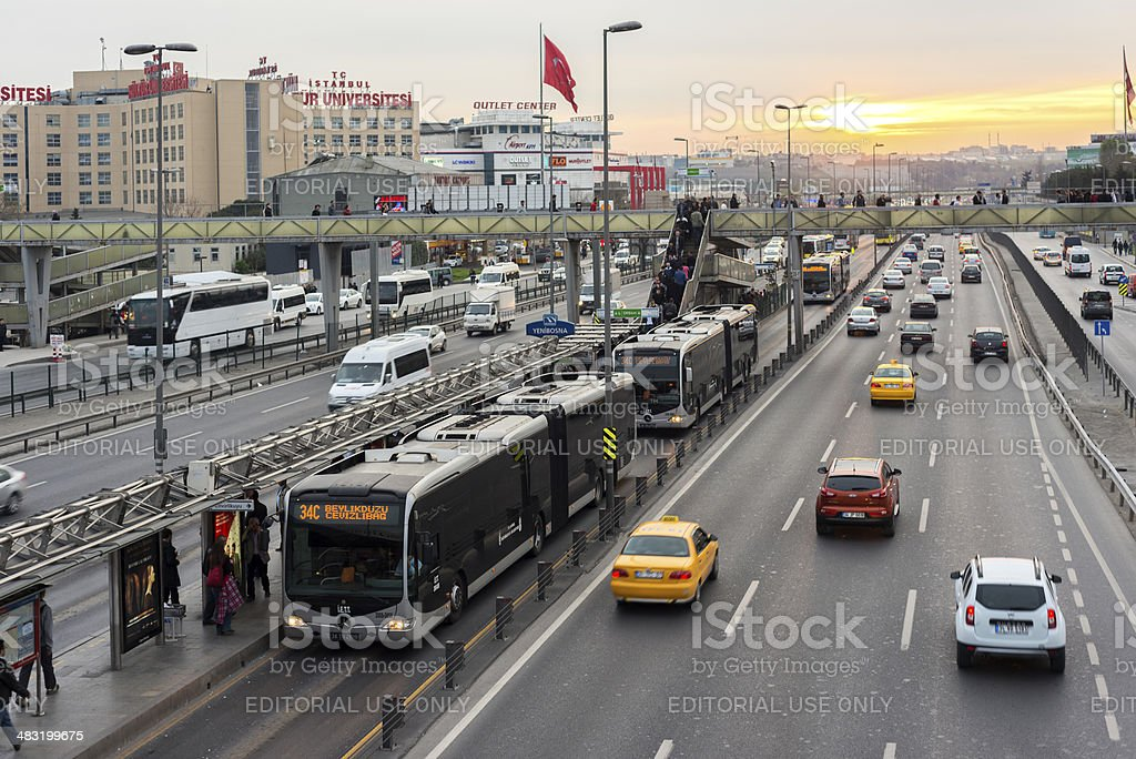 Yenibosna district in istanbul stock photo