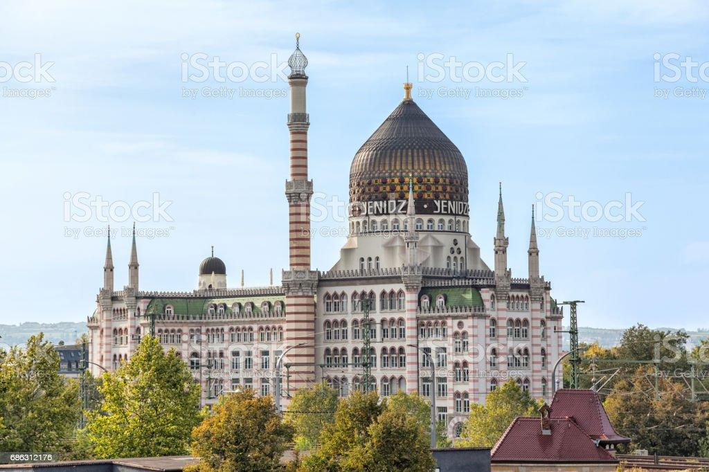 Yenidze is a former tobacco factory in Dresden stock photo