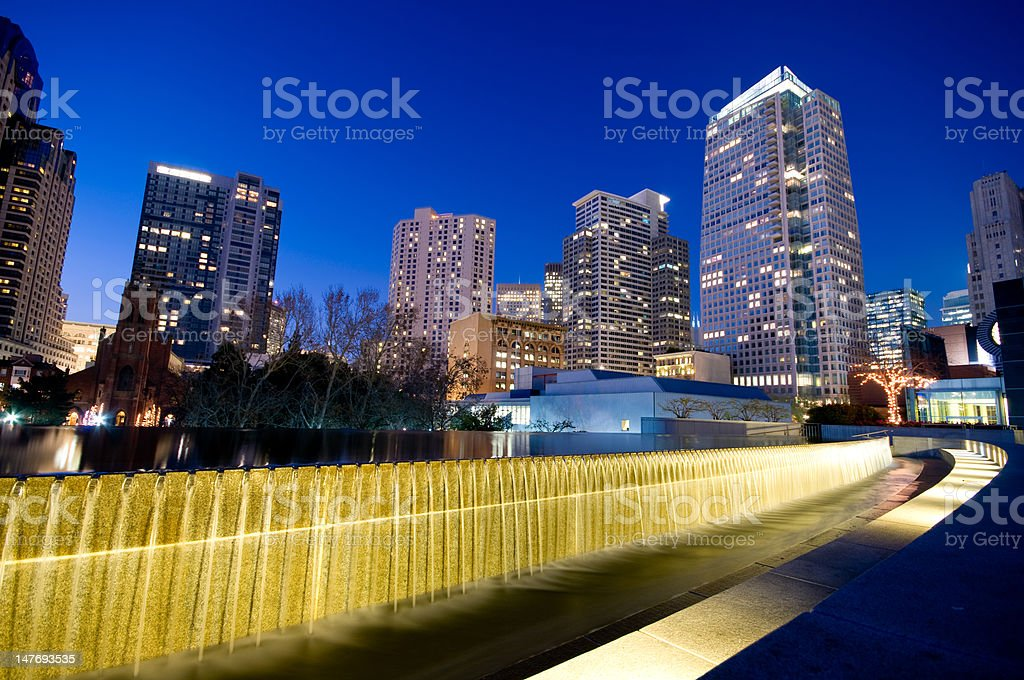 Yerba Buena Gardens, San Francisco stock photo