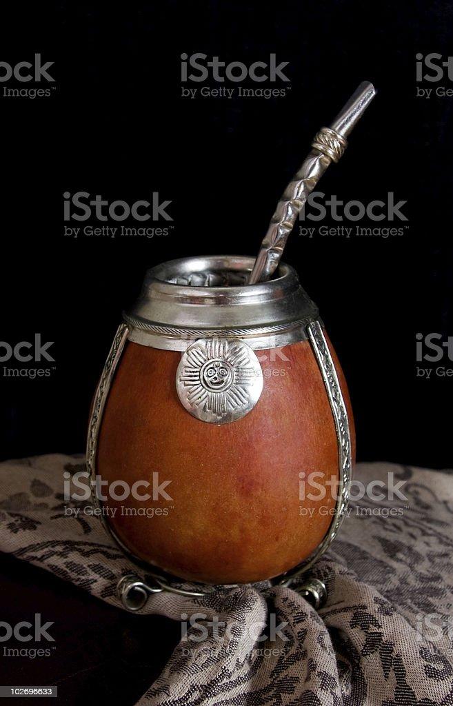 Yerba Mate cup (calabash) royalty-free stock photo