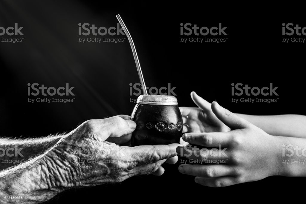 Yerba Mate, Symbol of friendship in Argentina stock photo