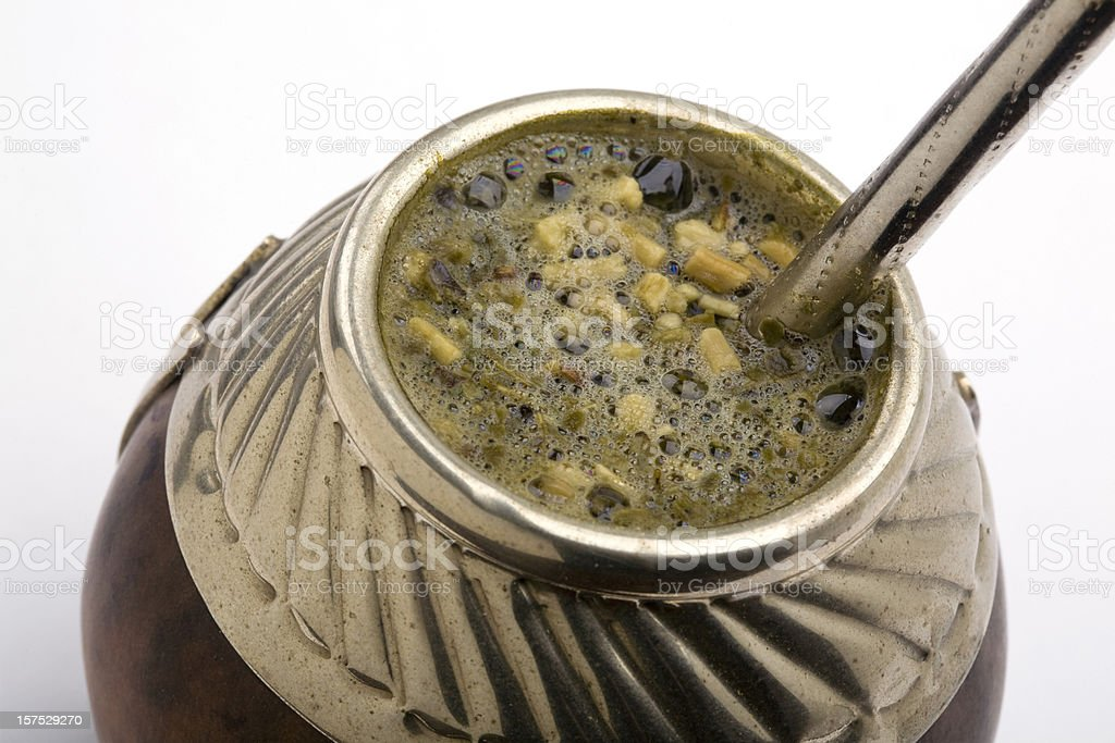 yerba mate tea royalty-free stock photo