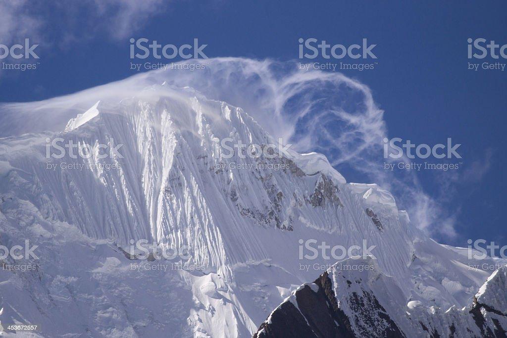 Yerupaja (6635m) Cordillera Huayhuash, Andes, Peru royalty-free stock photo