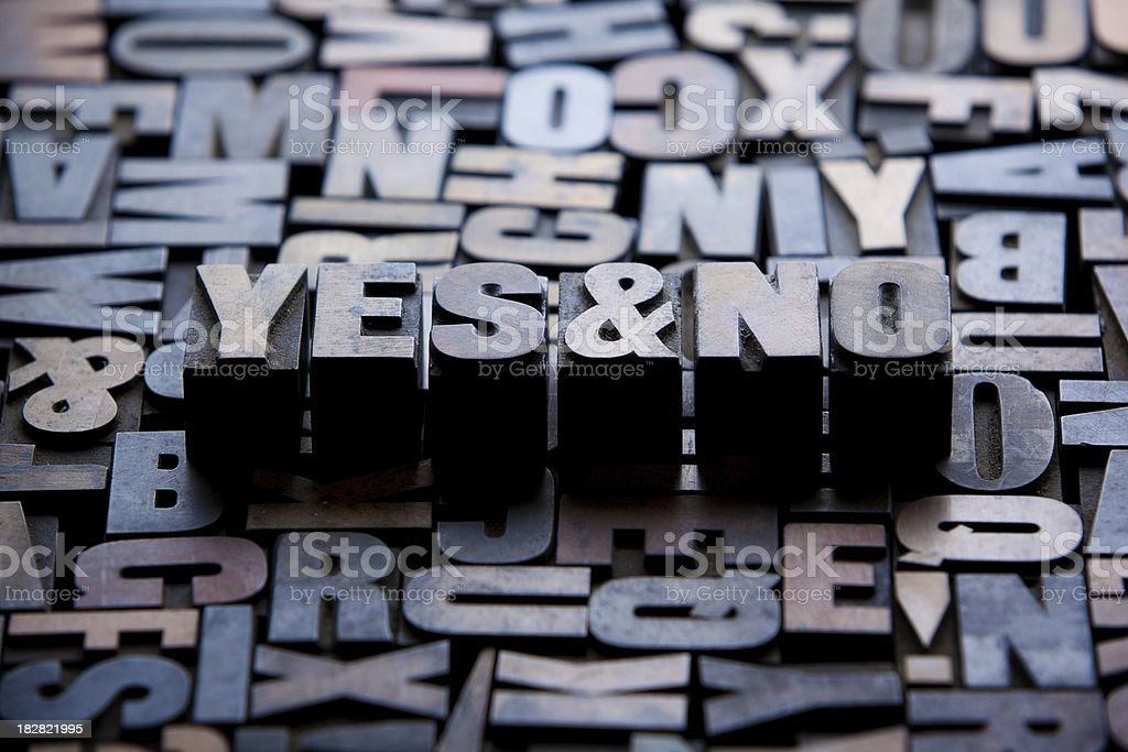 Yes & No... stock photo