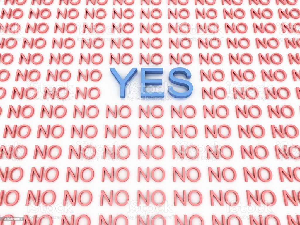 Yes and No background stock photo