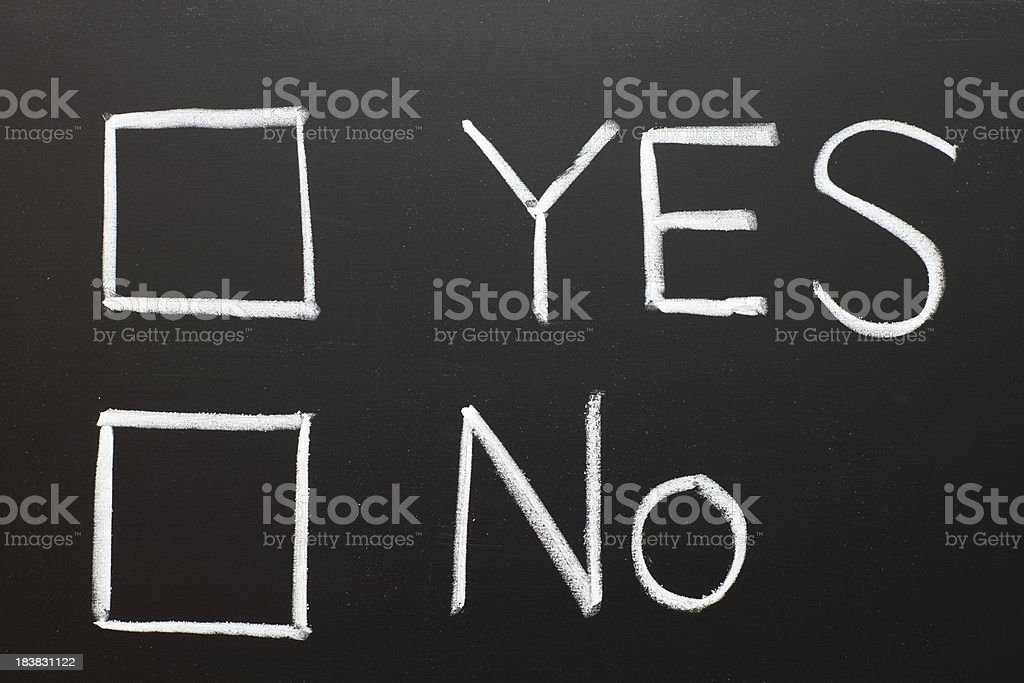 Yes and No Checkbox royalty-free stock photo