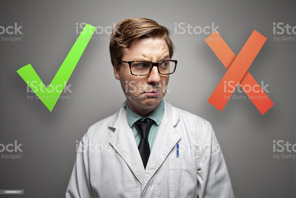 Yes and No! stock photo