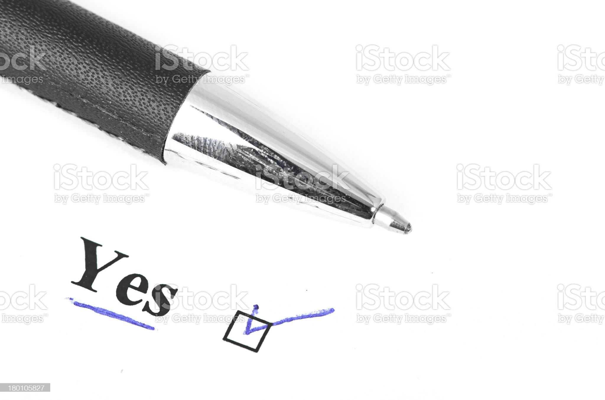 yes and pen royalty-free stock photo