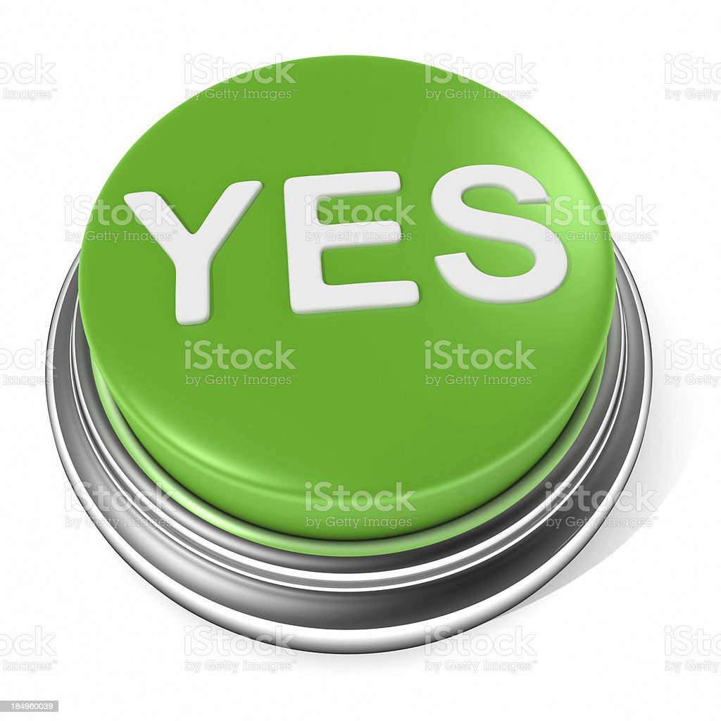 Yes button icon stock photo
