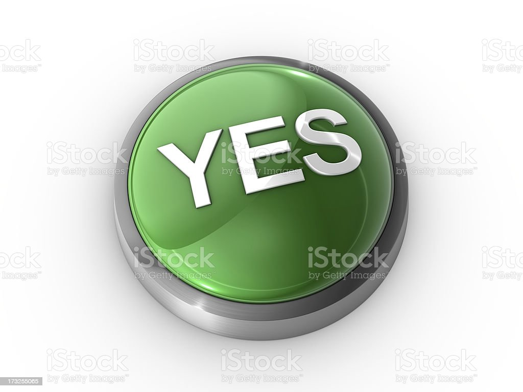 Yes Button royalty-free stock photo