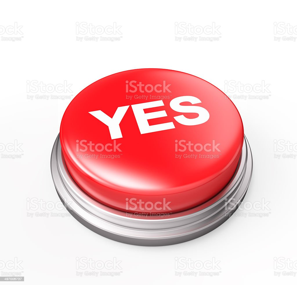 Yes Button stock photo