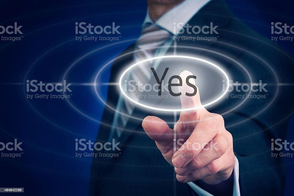 Yes Concept stock photo