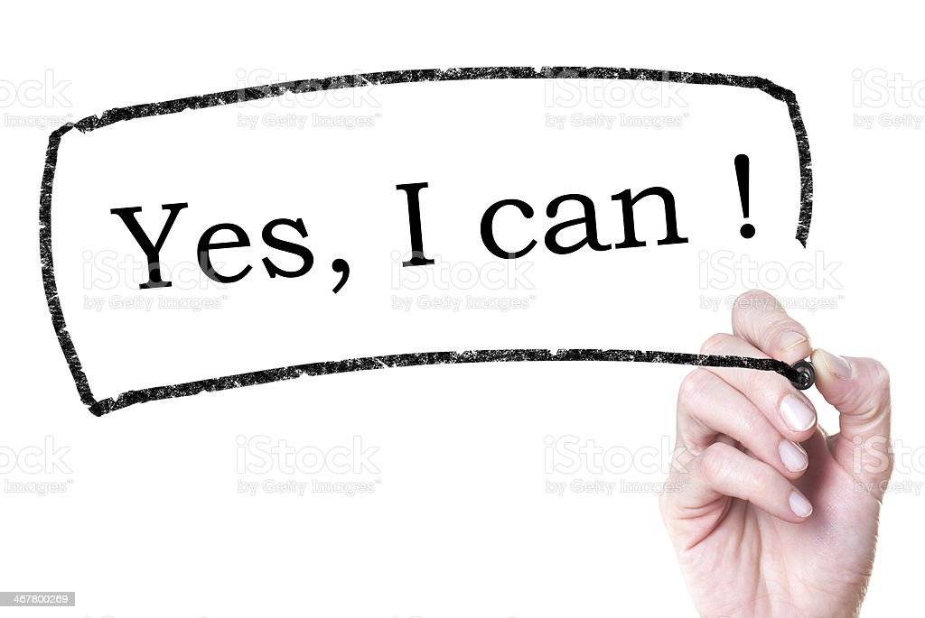 Yes, I can. stock photo