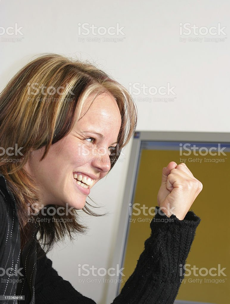 Yes, I did it! royalty-free stock photo