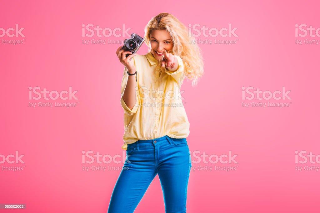Yes, I'm gonna take photo of you! stock photo