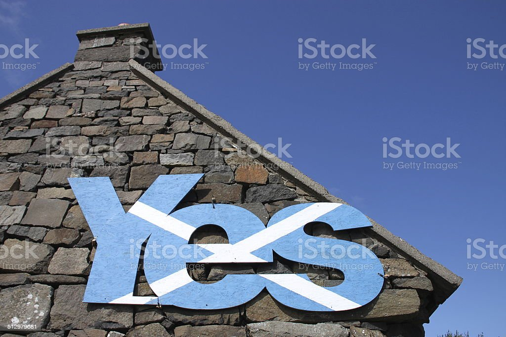 Yes in Schottland stock photo