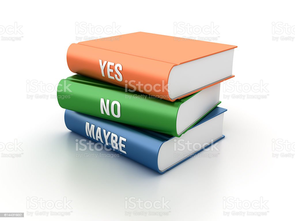 Yes No Maybe Books stock photo