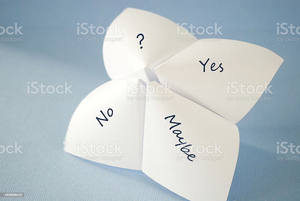 yes no maybe royalty-free stock photo