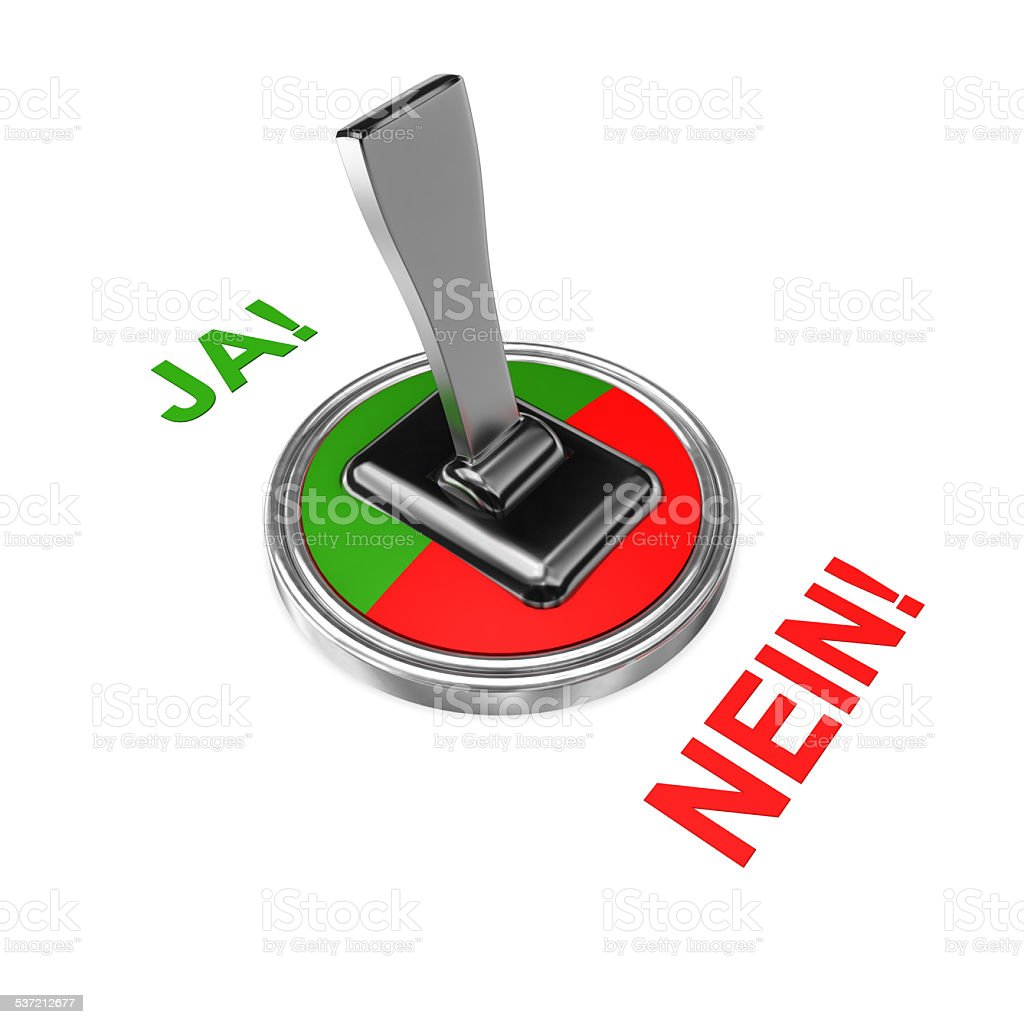 Ja Nein stock photo