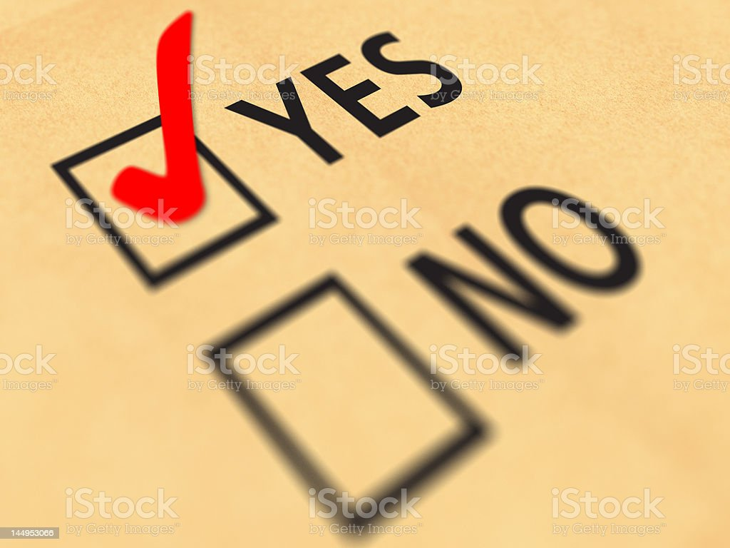 Yes No tickbox royalty-free stock photo