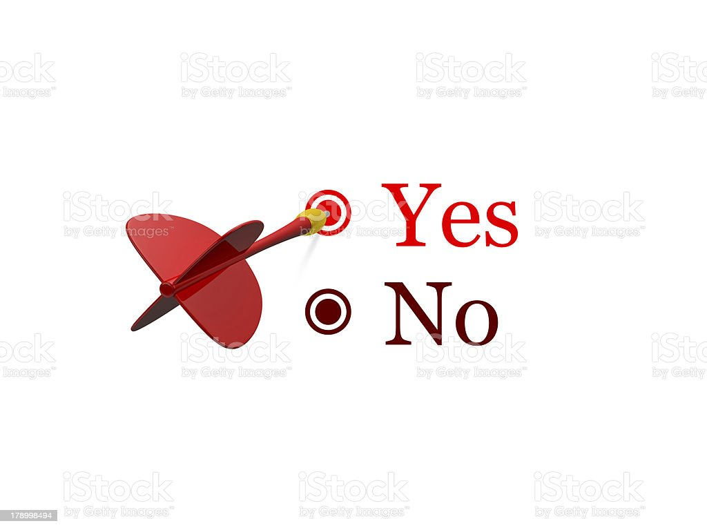 Yes or No Survey royalty-free stock photo