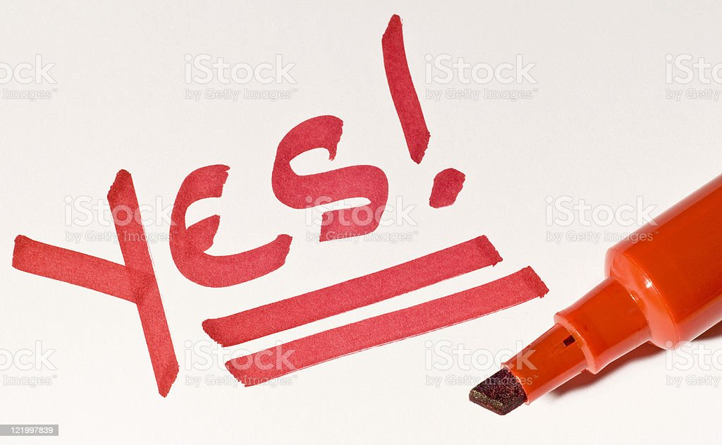 Yes! royalty-free stock photo