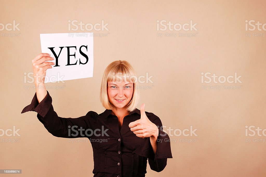 Yes royalty-free stock photo