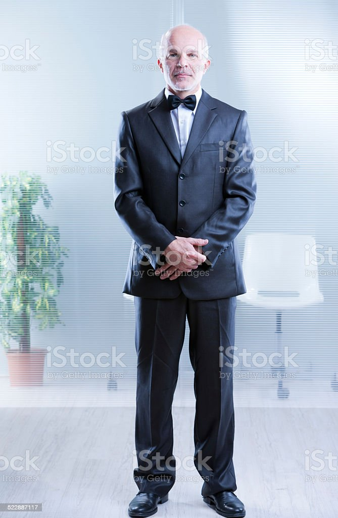yes Sir, I'm ready to serve stock photo