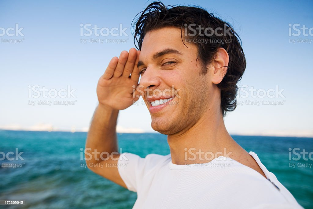 Yes sir! stock photo