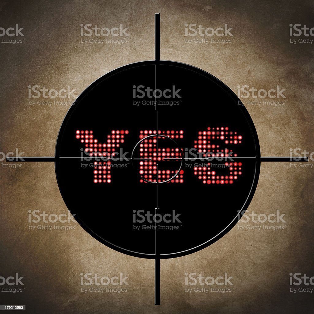 Yes target concept royalty-free stock photo
